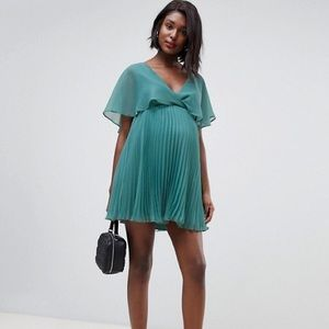 Asos Design Maternity Flutter Sleeve Mini Dress 2
